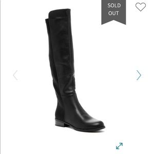 WOMENS BLACK Bucco Arabelle Heeled Boots Size 6.5